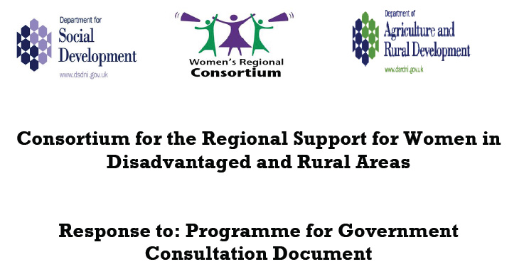 Finalised version of consortium response to programme for government consultation